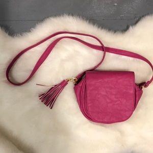 Handbags - Hot pink tassel crossbody bag